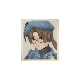 Nancy's portrait in <i>Valkyria Chronicles</i>.