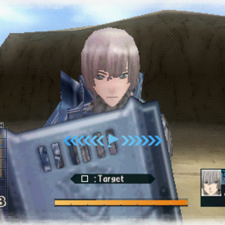 In-game screenshot of Alexis in Valkyria Chronicles 2.