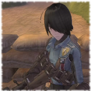 In-game screenshot of Marina in <i>Valkyria Chronicles</i>.