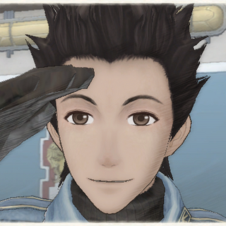 Ted's appearance in Valkyria Chronicles.