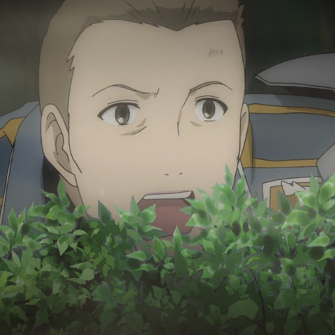 Jann's appearance in the <i>Valkyria Chronicles 3 OVA</i>.