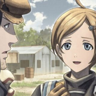 Cut-scene screenshot of Deit in Valkyria Chronicles 3.