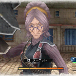 In-game screenshot of Gloria in Valkyria Chronicles 3.