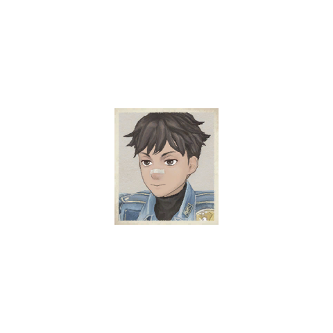Montley's portrait in <i>Valkyria Chronicles</i>.