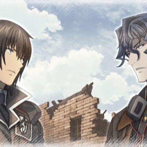 Cut-scene screenshot of Gusurg in Valkyria Chronicles 3.