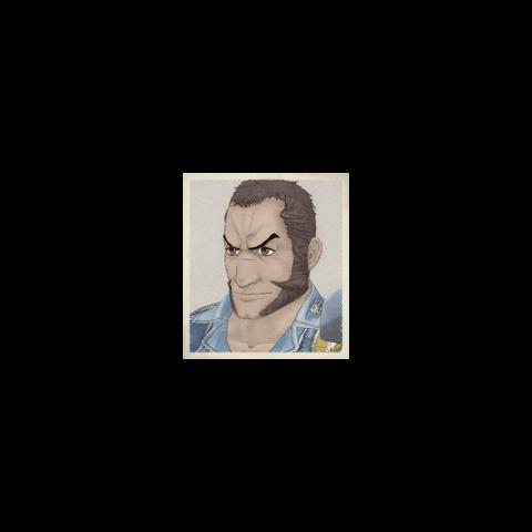 Largo's portrait in <i>Valkyria Chronicles</i>.