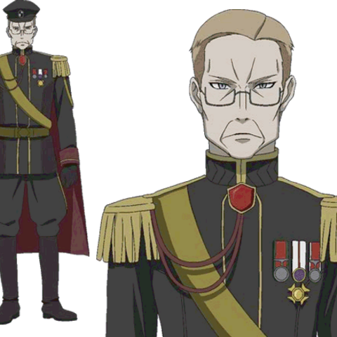 Gregor's appearance in the Valkyria Chronicles anime.