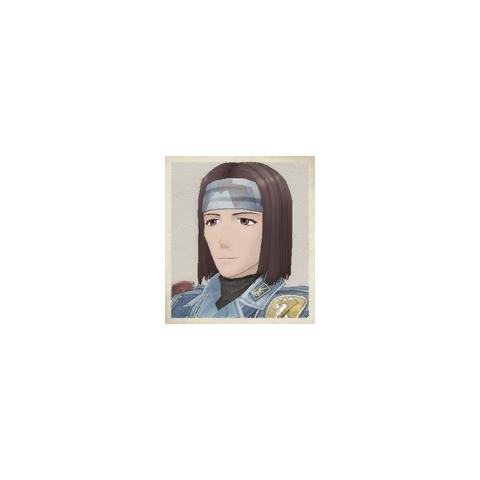 Hermes's portrait in <i>Valkyria Chronicles</i>.