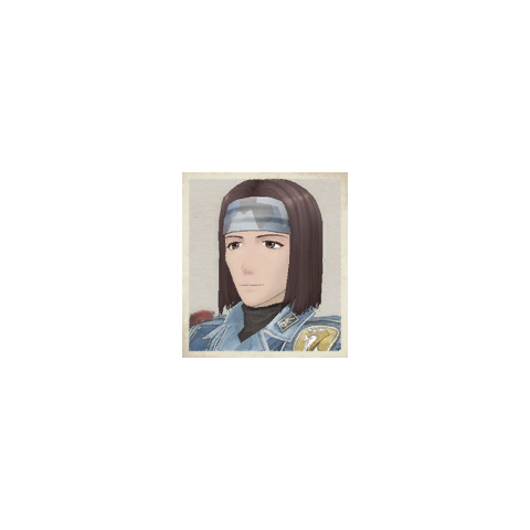 Hermes's portrait in <i>Valkyria Chronicles</i>.