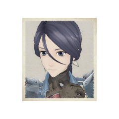 Lynn's portrait in <i>Valkyria Chronicles</i>.