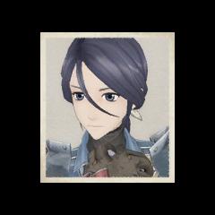 Lynn's portrait in <i>Valkyria Chronicles</i>.