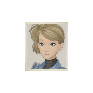 Cherry's portrait in <i>Valkyria Chronicles</i>.