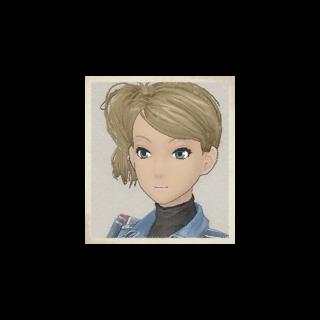 Cherry's portrait in <i>Valkyria Chronicles</i>.
