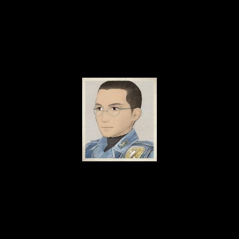 Karl's portrait in <i>Valkyria Chronicles</i>.