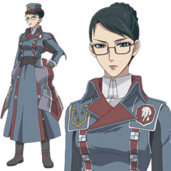 Eleanor's appearance in the <i>Valkyria Chronicles Anime</i>.