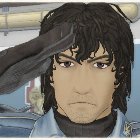 Hannes' appearance in Valkyria Chronicles.