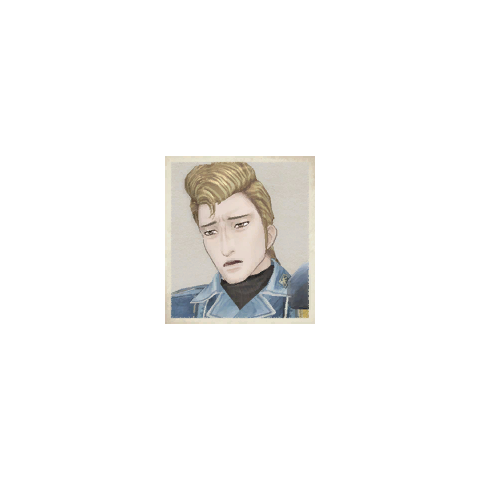 Theold's portrait in <i>Valkyria Chronicles</i>.