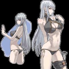 Concept artwork of Selvaria's swimsuit.