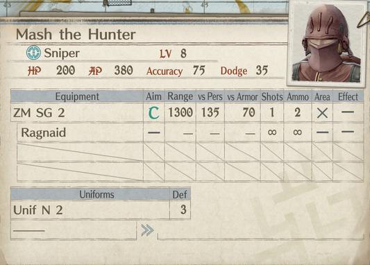 Mash the Hunter-card