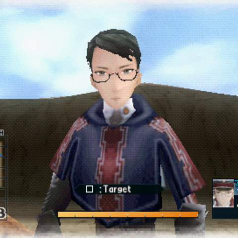 In-game screenshot of Eleanor in <i>Valkyria Chronicles 2</i>.