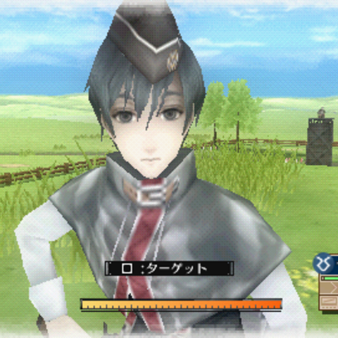 In-game screenshot of Serge in <i>Valkyria Chronicles 3</i>.
