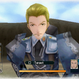 In-game screenshot of Erik in Valkyria Chronicles 2.