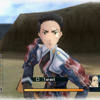 In-game screenshot of Sigrid in <i>Valkyria Chronicles 2</i>.