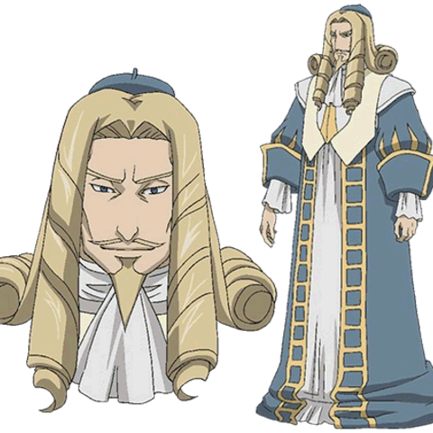 Borg's appearance in the Valkyria Chronicles anime.