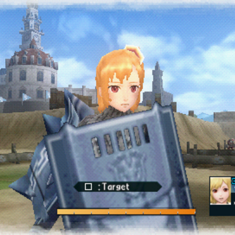In-game screenshot of Emilia