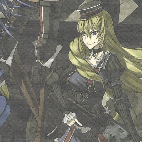 Cover Artwork of Leila on the <i>Valkyria Chronicles 3: Complete Artworks</i>.