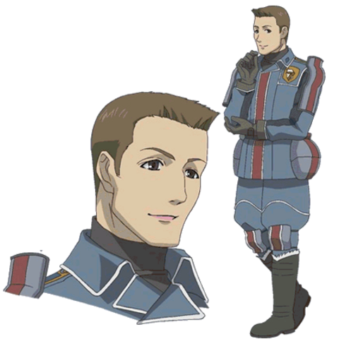 Jann's appearance in the <i>Valkyria Chronicles Anime</i>.