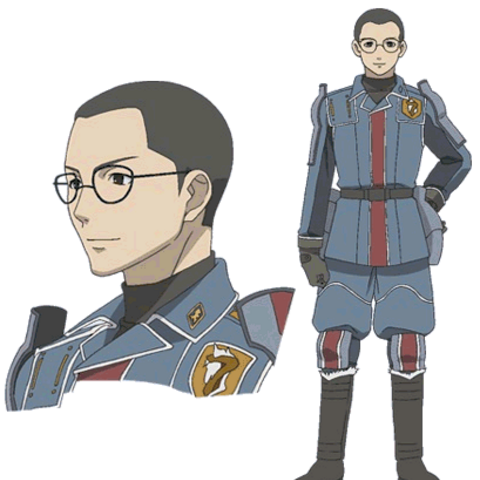 Karl's appearance in the Valkyria Chronicles anime.