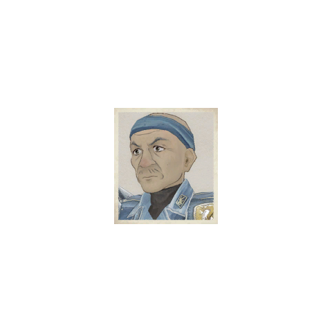 Coby's portrait in <i>Valkyria Chronicles</i>.