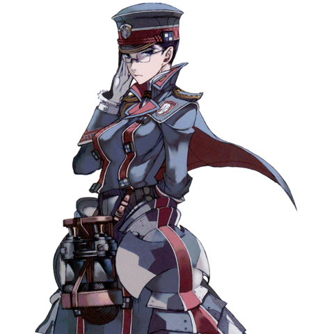 Artwork of Eleanor from the <i>Valkyria Chronicles: Design Archive</i>.