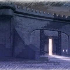 Ghirlandaio front gate at night