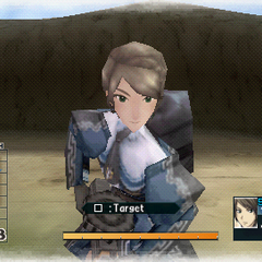 In-game screenshot of Franca in <i>Valkyria Chronicles 2</i>.