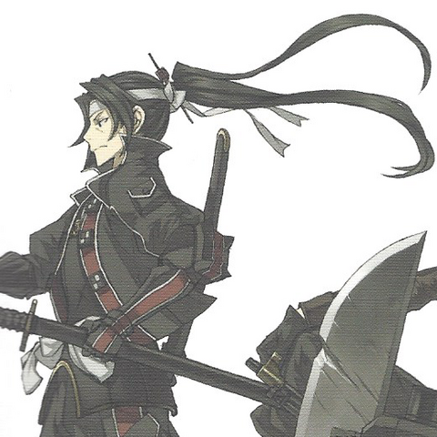 Cover Artwork of Shin on the <i>Valkyria Chronicles 3: Complete Artworks</i>.