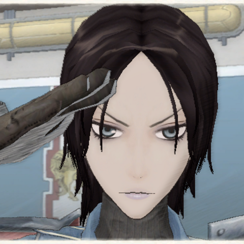 Jane's appearance in Valkyria Chronicles.