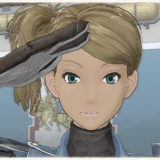 Cherry's appearance in Valkyria Chronicles.