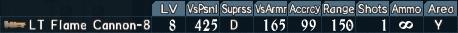 Flamethrower spec 1-8