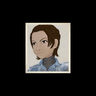 Rosina's portrait in <i>Valkyria Chronicles</i>.