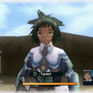 In-game screenshot of Vicky in Valkyria Chronicles 2.