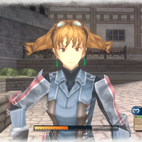 In-game screenshot of Aika in <i>Valkyria Chronicles 3</i>.