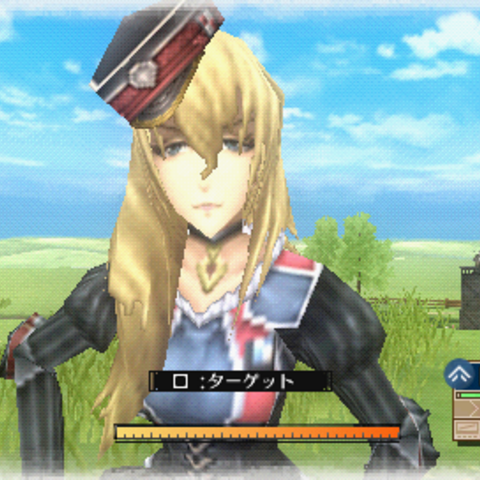 In-game screenshot of Leila in Valkyria Chronicles 3.