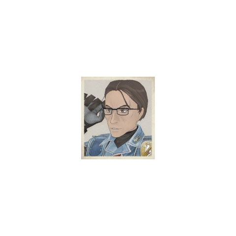 Knute's portrait in <i>Valkyria Chronicles</i>.