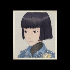 Nadine's portrait in <i>Valkyria Chronicles</i>.