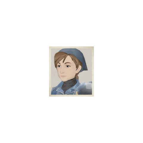 Yoko's portrait in <i>Valkyria Chronicles</i>.