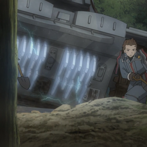 Oscar's appearance in the Valkyria Chronicles 3 OVA.