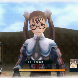 In-game screenshot of Lotte in Valkyria Chronicles 2.