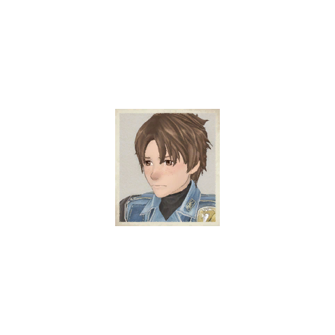 Emile's portrait in <i>Valkyria Chronicles</i>.